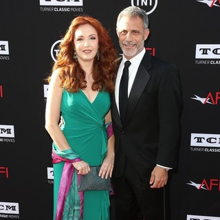 Amy Yasbeck, Michael J. Plonsker in 41st AFI Life Achievement Award Honoring Mel Brooks - Red Carpet