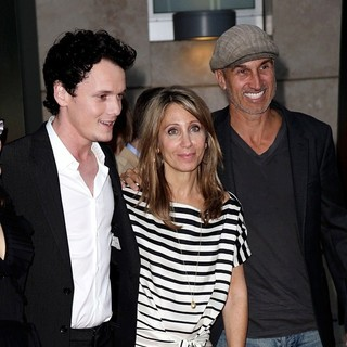 Anton Yelchin, Stacey Snider, Craig Gillespie in Fright Night Los Angeles Screening - Red Carpet