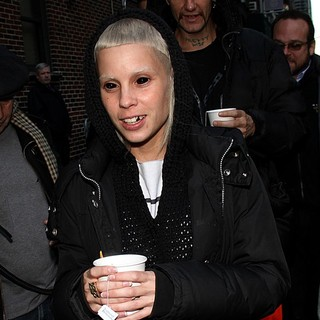 Yo-Landi Vi$$er, Die Antwoord in Celebrities Outside of The Ed Sullivan Theater for The Late Show with David Letterman