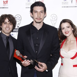 Jacob Young, Adam Driver, Rose Hemingway in The 2012 Lucille Lortel Awards - Press Room