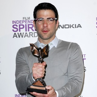 Zachary Quinto in 27th Annual Independent Spirit Awards - Press Room
