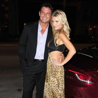 Romain Zago, Joanna Krupa in The Real Housewives of Miami Season 2 VIP Launch Party
