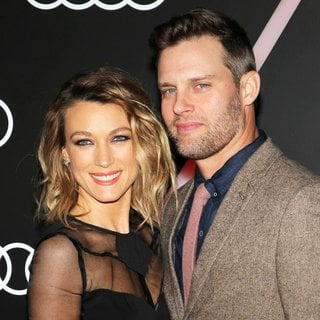Natalie Zea, Travis Schuldt in Audi Celebrates Golden Globes Event