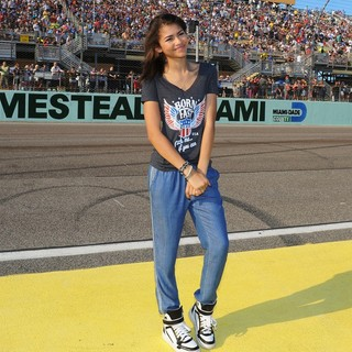 Zendaya Coleman in The NASCAR Sprint Cup Series Ford EcoBoost 400
