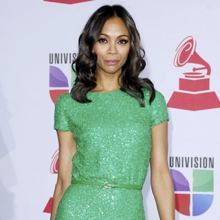 Zoe Saldana in The 12th Annual Latin GRAMMY Awards - Arrivals