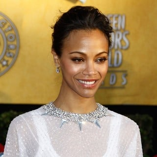 Zoe Saldana in The 18th Annual Screen Actors Guild Awards - Arrivals