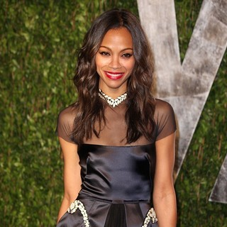 Zoe Saldana in 2012 Vanity Fair Oscar Party - Arrivals