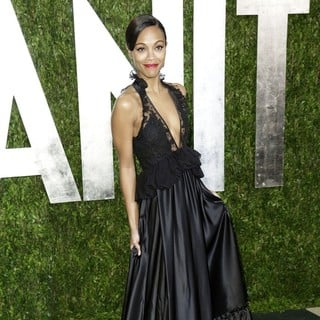 Zoe Saldana in 2013 Vanity Fair Oscar Party - Arrivals