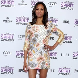 Zoe Saldana in 27th Annual Independent Spirit Awards - Arrivals