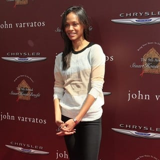 Zoe Saldana in The 9th Annual John Varvatos Stuart House Benefit