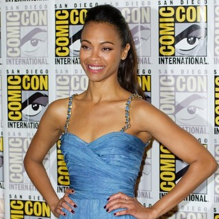Zoe Saldana in Comic-Con International 2013 - Marvel - Photocall