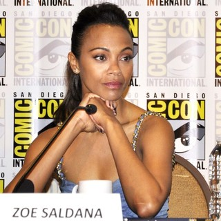 Zoe Saldana in Comic-Con International 2013 -  Guardians of the Galaxy - Press Conference