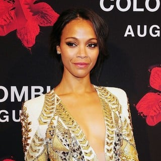 Zoe Saldana in The Colombiana Miami Red Carpet Screening