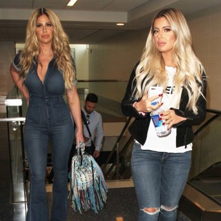 Kim Zolciak and Brielle Biermann Depart from Los Angeles International Airport