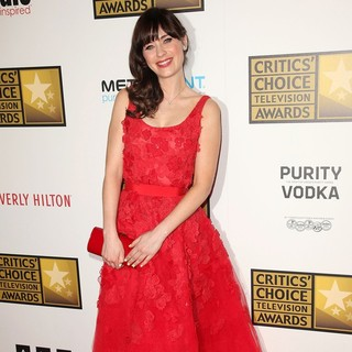 Zooey Deschanel in 2012 Critics' Choice TV Awards - Arrivals