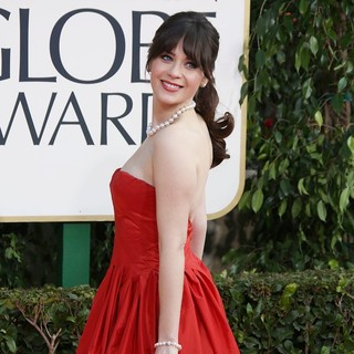 Zooey Deschanel in 70th Annual Golden Globe Awards - Arrivals