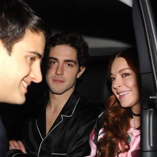 Tommaso Zorzi, Lindsay Lohan-Lindsay Lohan and Tommaso Zorzi During Fashion Week