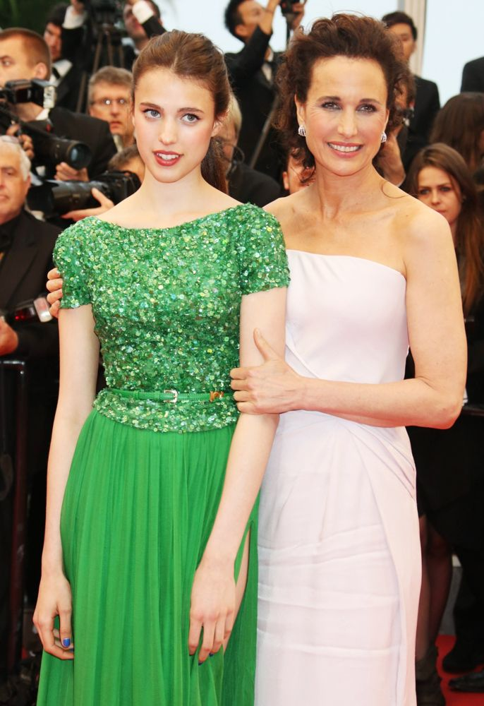Margaret Qualley, Andie MacDowell<br>The Closing Ceremony and Therese Desqueyroux Premiere - The 65th Annual Cannes Film Festival