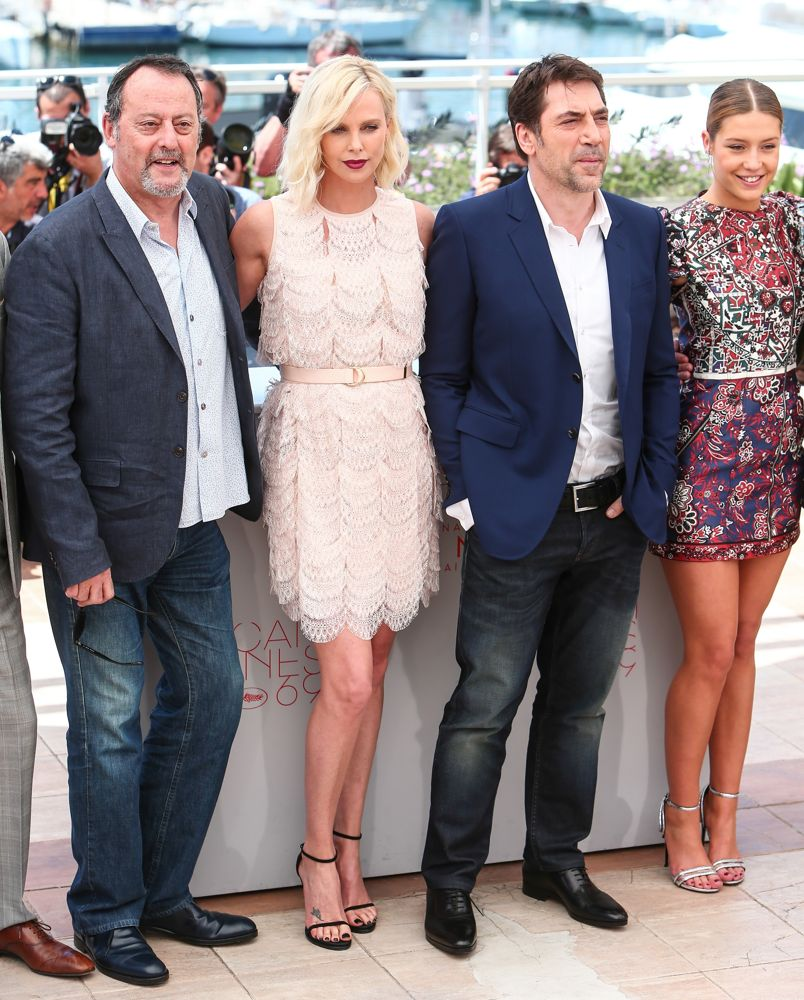 Jean Reno, Charlize Theron, Javier Bardem, Adele Exarchopoulos<br>69th Cannes Film Festival - The Last Face - Photocall