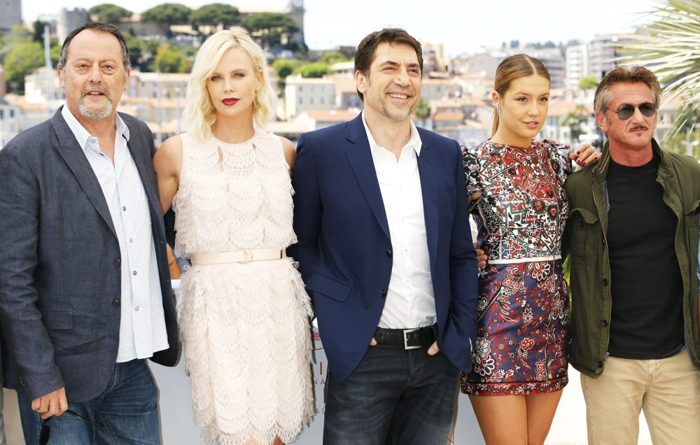 Jean Reno, Charlize Theron, Javier Bardem, Adele Exarchopoulos, Sean Penn<br>69th Cannes Film Festival - The Last Face - Photocall