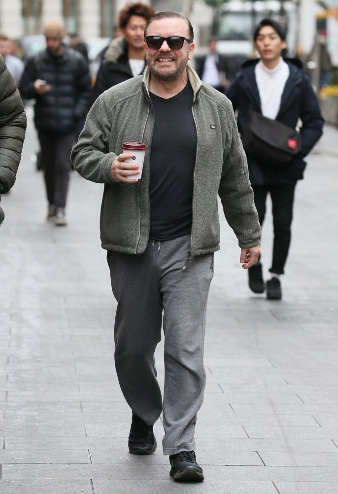 Ricky Gervais<br>Ricky Gervais Seen Arriving at Global Studios