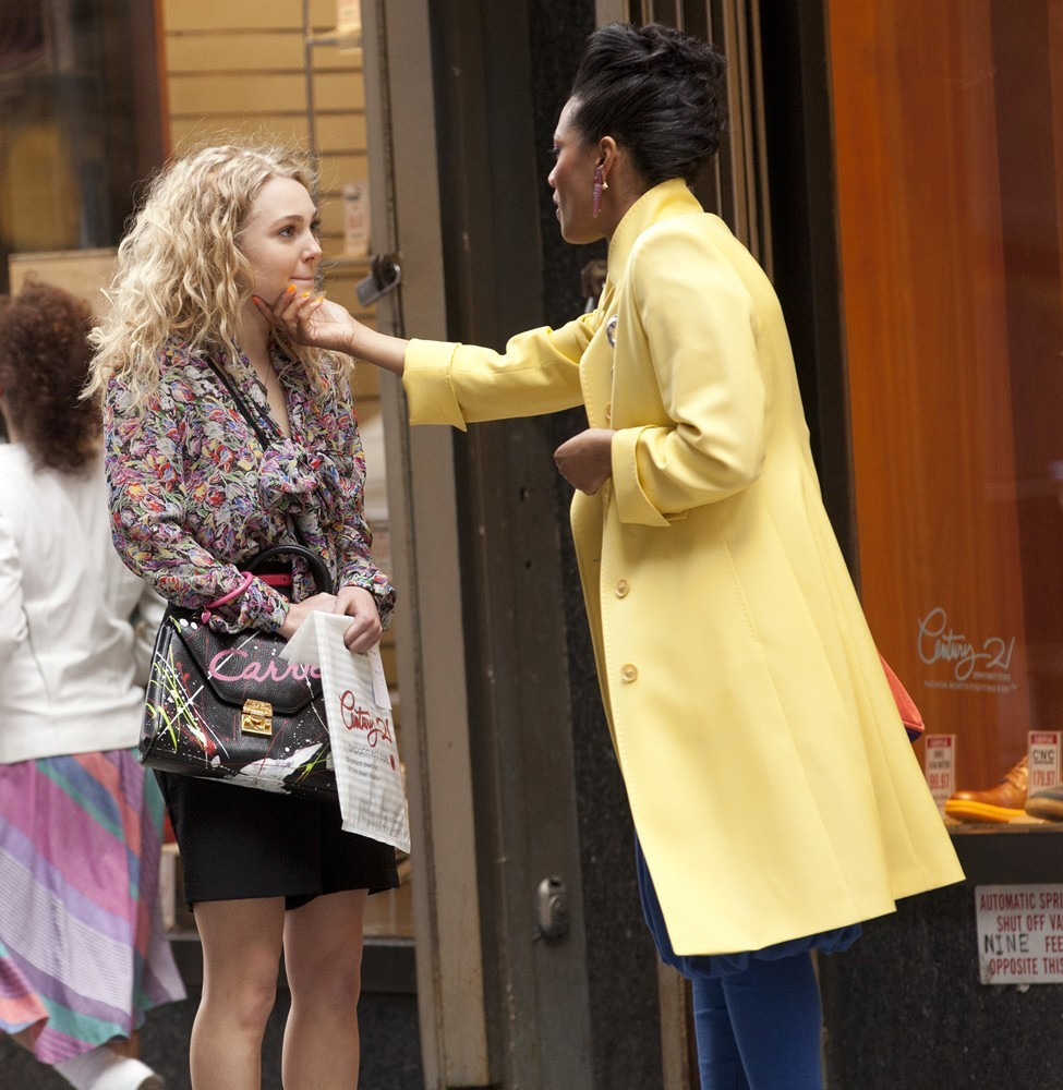 AnnaSophia Robb and Freema Agyeman on The Set of The Carrie Diaries