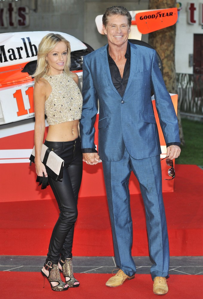 Hayley Roberts, David Hasselhoff<br>World Premiere of Rush - Arrivals