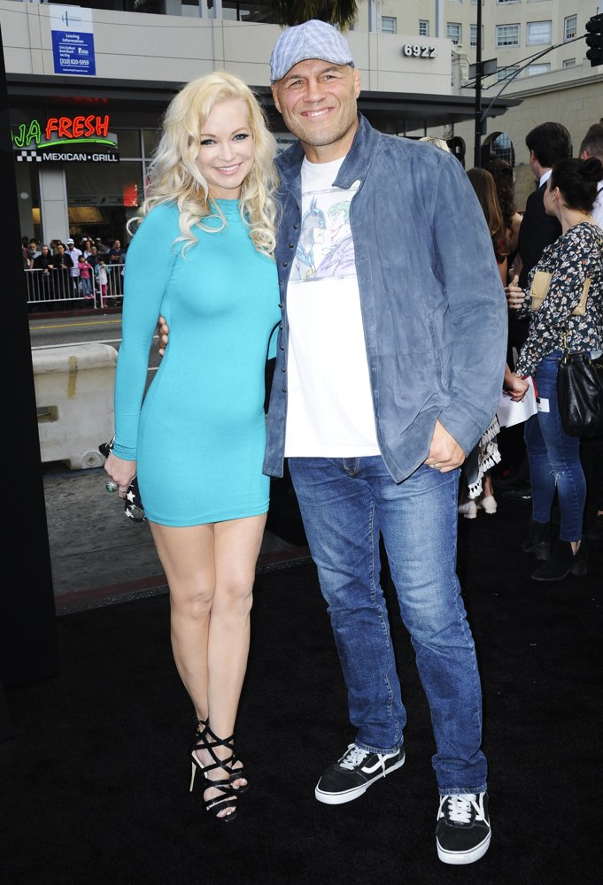 Mindy Robinson, Randy Couture<br>The Nun Premiere
