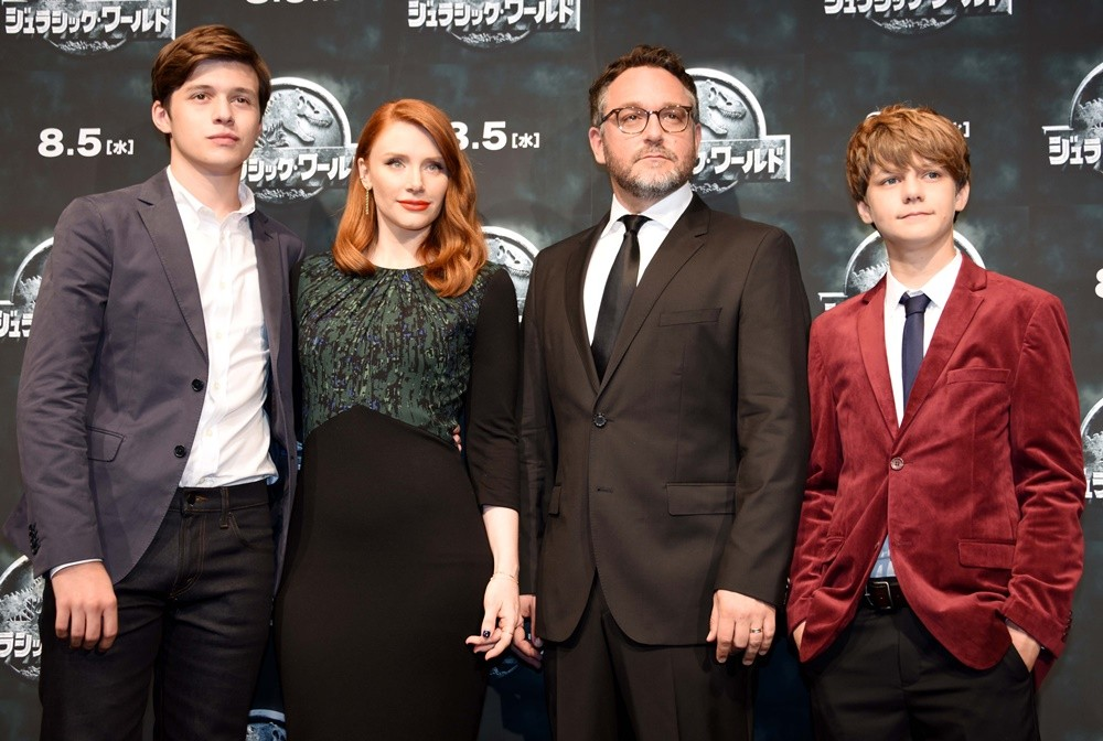 Nick Robinson, Bryce Dallas Howard, Colin Trevorrow, Ty Simpkins<br>Japanese Press Conference of Jurassic World