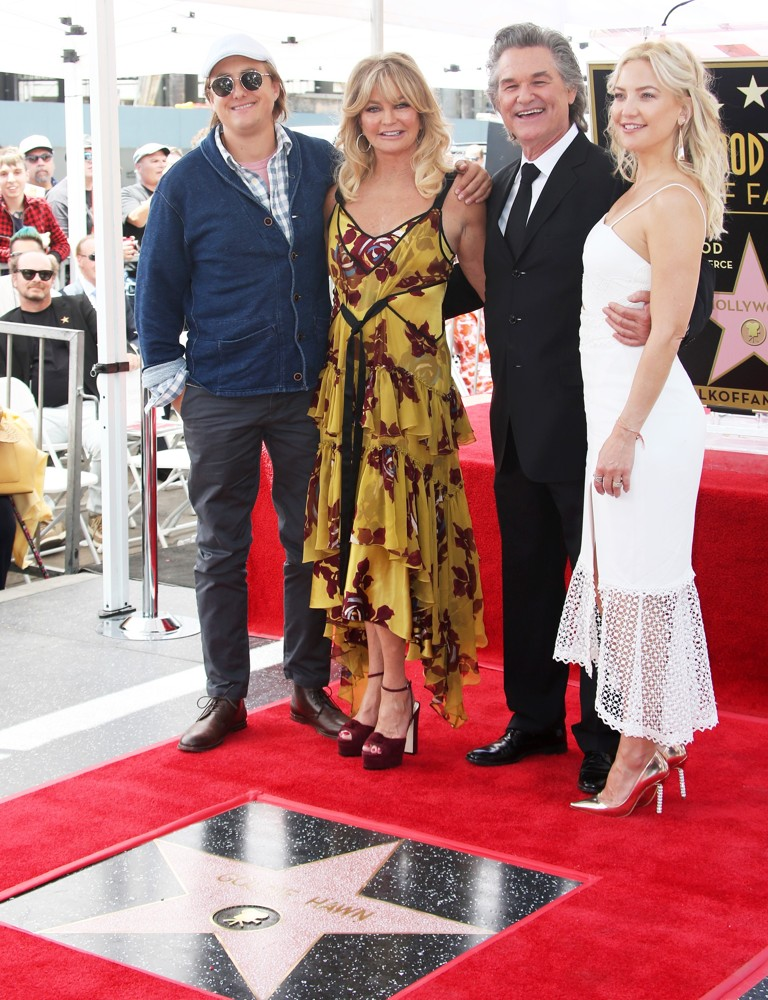 Boston Russell, Goldie Hawn, Kurt Russell, Kate Hudson<br>Goldie Hawn and Kurt Russell Honored with Double Star Ceremony on The Hollywood Walk of Fame