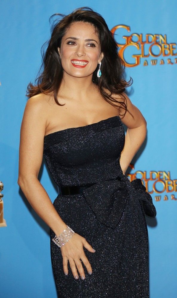 Salma Hayek<br>70th Annual Golden Globe Awards - Press Room
