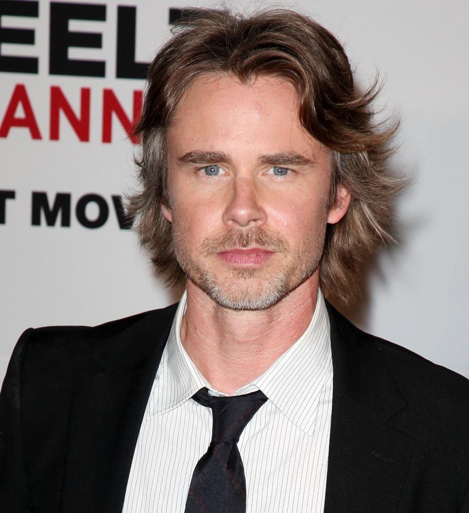 The 48-year old son of father Bobby and mother Carla, 182 cm tall Sam Trammell in 2017 photo