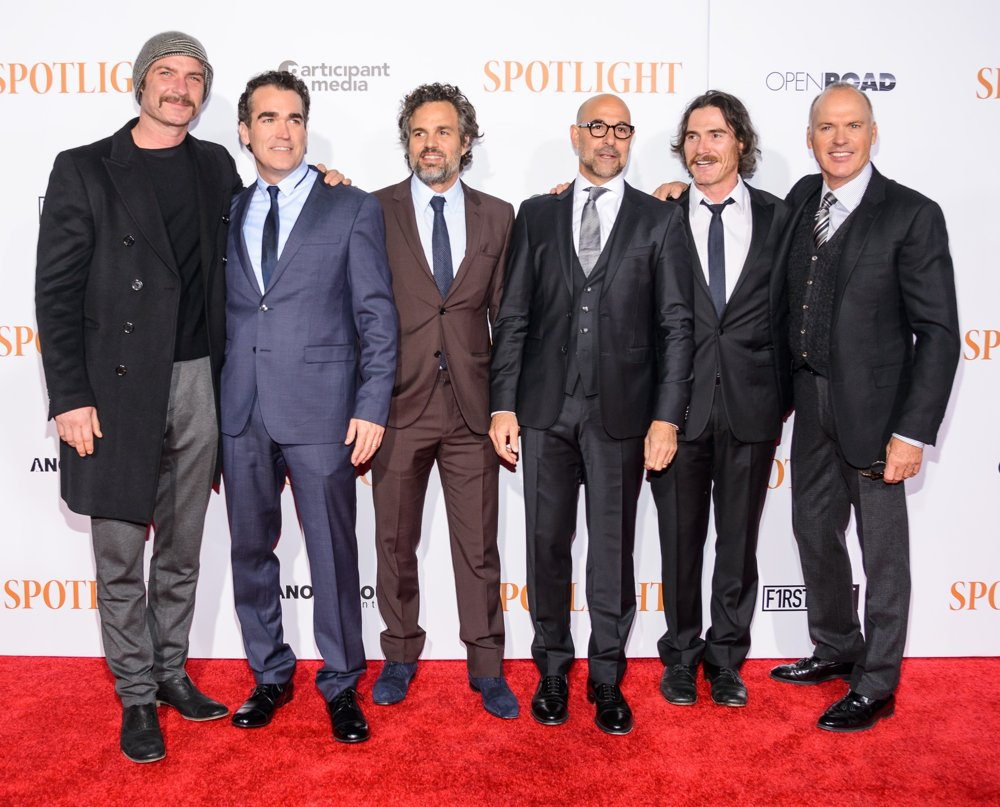 Liev Schreiber, Brian d'Arcy James, Mark Ruffalo, Stanley Tucci, Billy Crudup, , Michael Keaton<br>New York City Premiere of Spotlight
