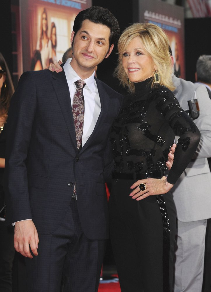 Ben Schwartz, Jane Fonda<br>Los Angeles Premiere of This Is Where I Leave You - Arrivals