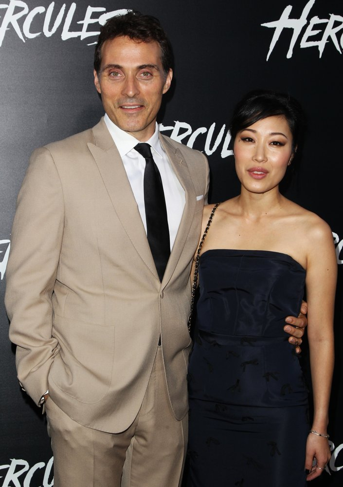 Rufus Sewell, Ami Komai<br>Los Angeles Premiere of Hercules - Arrivals