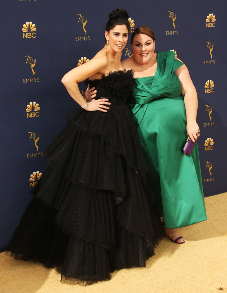 Sarah Silverman, Chrissy Metz<br>70th Emmy Awards - Arrivals