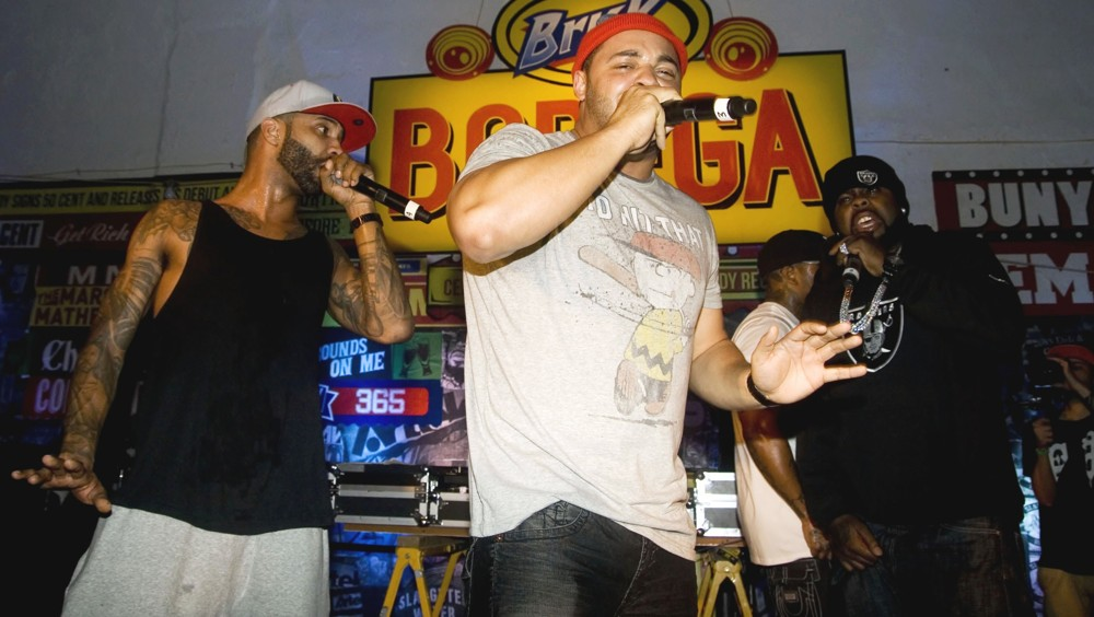 Joe Budden, Joell Ortiz, Crooked I, Slaughterhouse<br>BRISK Bodega Private Shady Records Artists Performance: Yelawolf and Slaughterhouse
