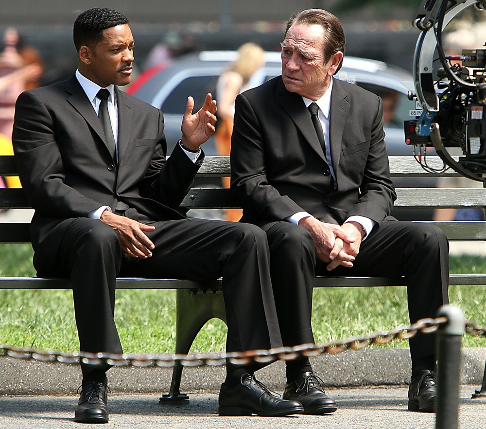 Will Smith, Tommy Lee Jones<br>Shooting on Location for Men in Black 3