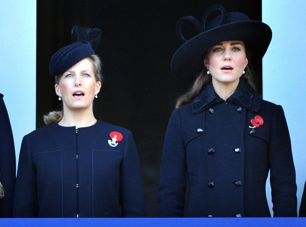 Sophie Rhys-Jones, Kate Middleton<br>Sunday Commemorating Sacrifices of The Armed Forces