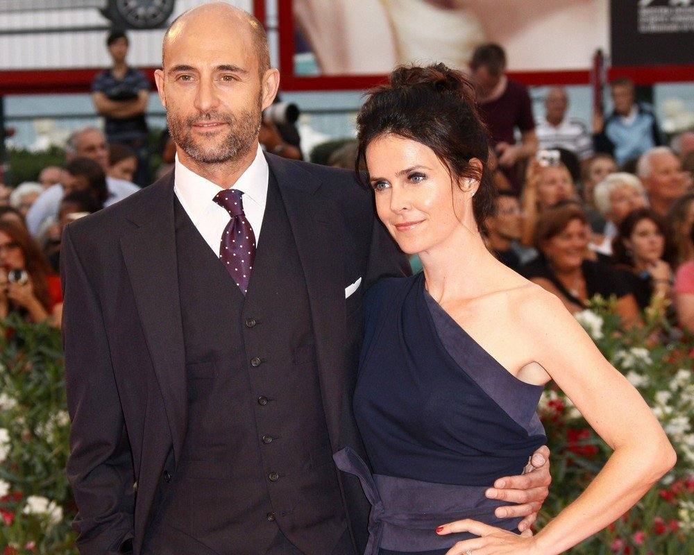 Mark Strong with beautiful, cute, Wife Liza Marshall
