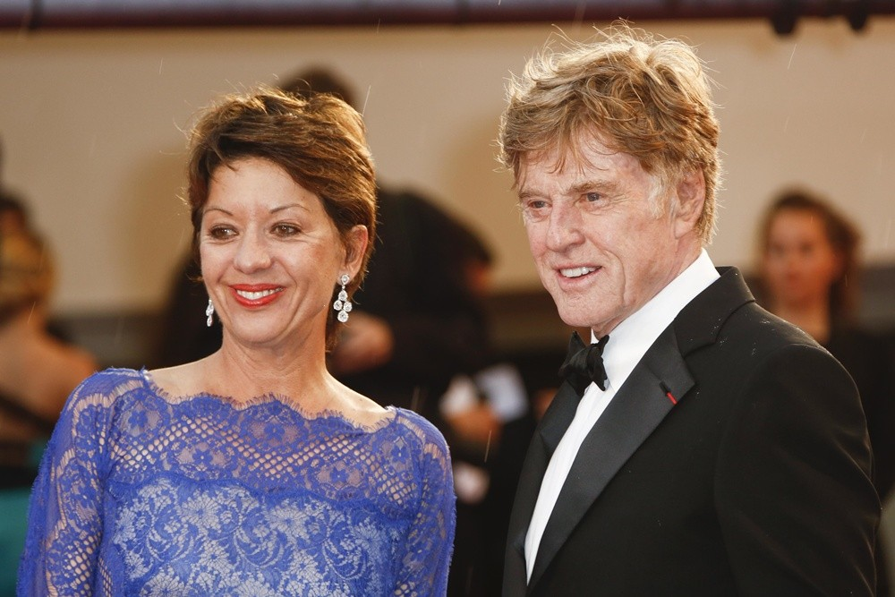 Sibylle Szaggars, Robert Redford<br>66th Cannes Film Festival - All Is Lost Premiere