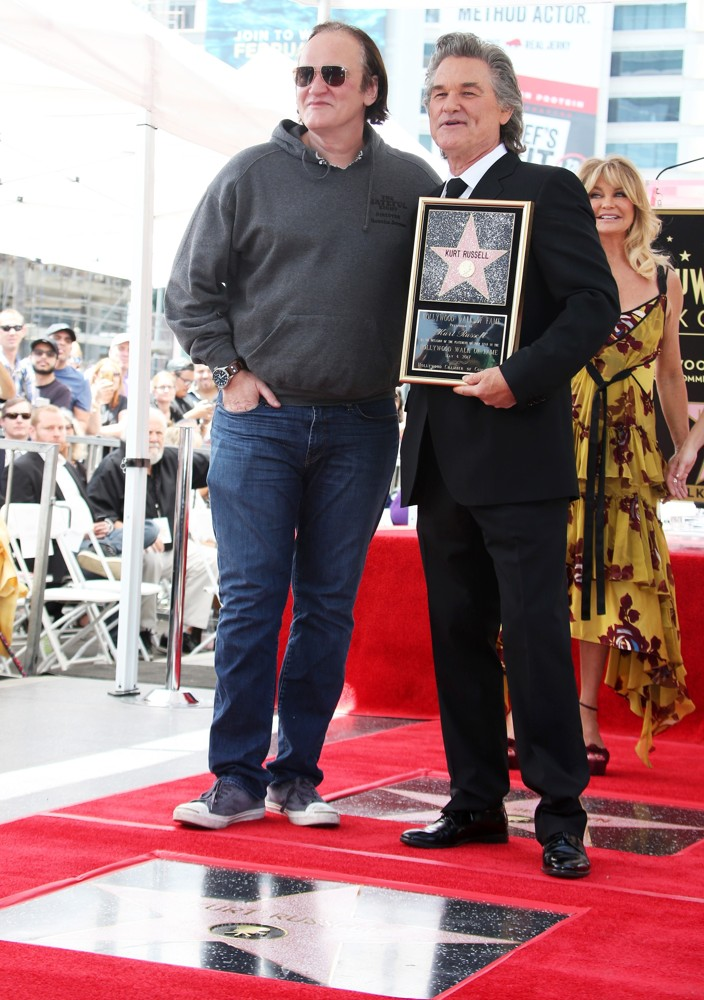 Quentin Tarantino, Kurt Russell, Goldie Hawn<br>Goldie Hawn and Kurt Russell Honored with Double Star Ceremony on The Hollywood Walk of Fame