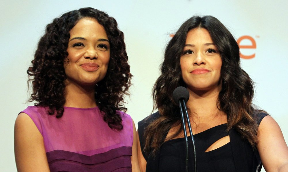 Tessa Thompson, Gina Rodriguez<br>46th NAACP Image Awards - Nomination Announcement and Press Conference