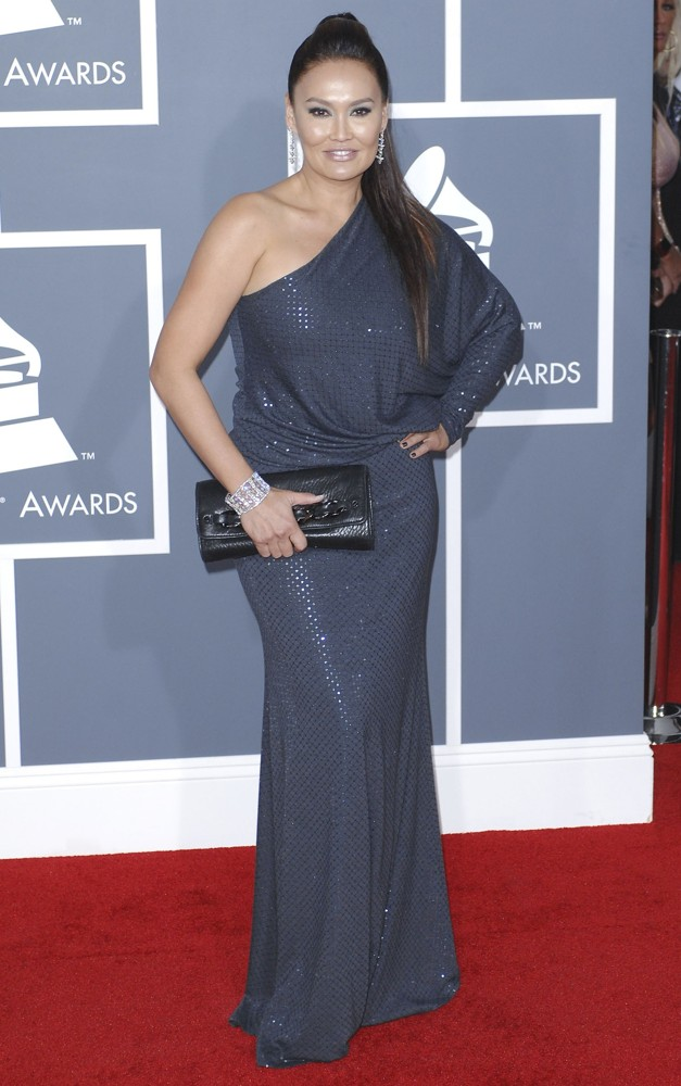 tia carrere picture 32 54th annual grammy awards arrivals