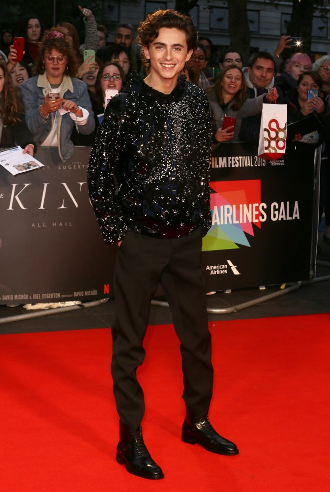 Timothee Chalamet<br>The BFI 63nd London Film Festival - UK Premiere of The King - Arrivals