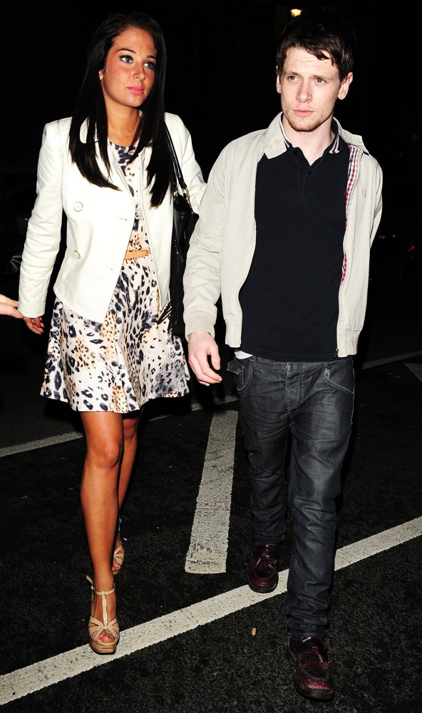 Tulisa, Jack O'Connell<br>Celebrities Outside Aura Nightclub