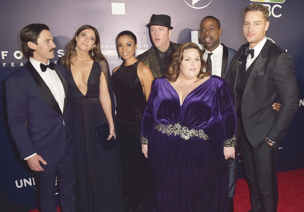 Milo Ventimiglia, Mandy Moore, Susan Kelechi Watson, Chris Sullivan, Chrissy Metz, Sterling K. Brown, Justin Hartley<br>NBC Universal Golden Globes 2017 After Party