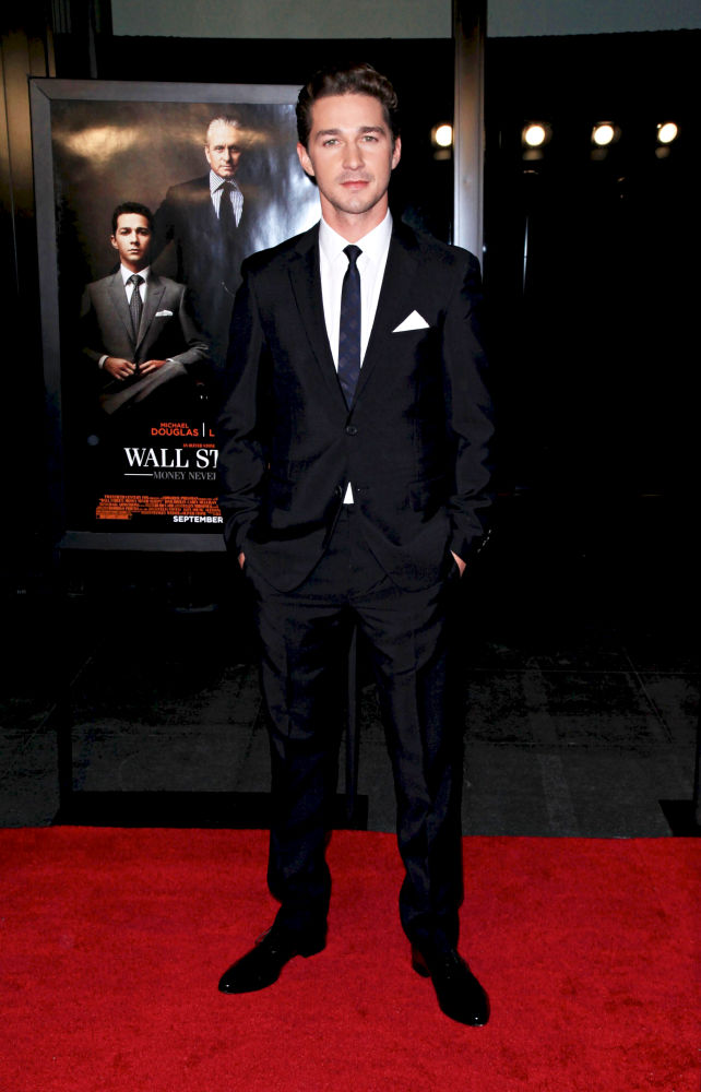 Shia LaBeouf<br>The New York Movie Premiere of 'Wall Street 2: Money Never Sleeps' - Arrivals