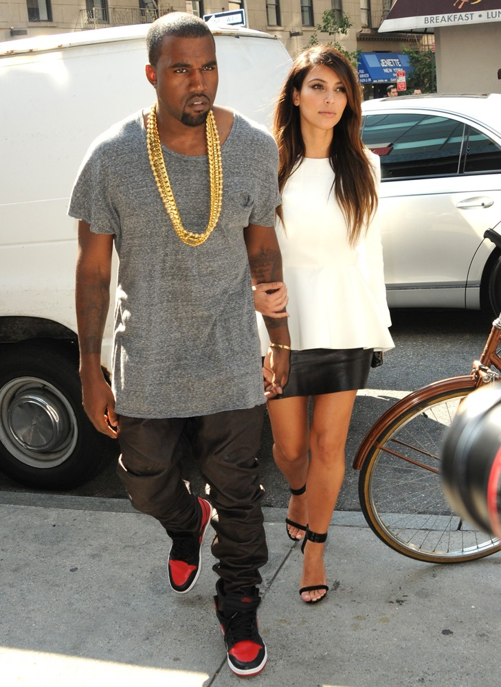 Kanye West, Kim Kardashian<br>Kim Kardashian and Kanye West Are Seen Leaving Soho to Go to A Movie Theater