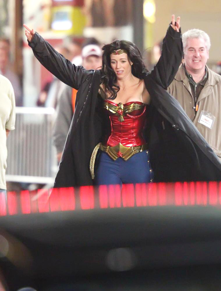 in Filming in Hollywood on The Set of 'Wonder Woman'